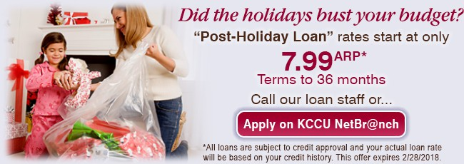 Banner - Post-Holiday Loan 2018
